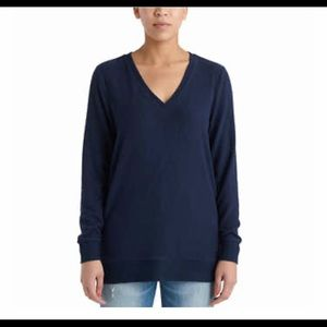 Lucky Brand Blue V-Neck Tunic